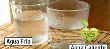 ¿Agua fría o agua caliente? Una de ellas daña su salud.
